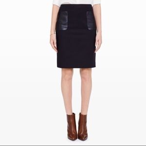 Club Monaco Nadine Skirt Leather Pockets